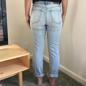 Madewell light wash jeans
